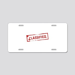 Classified Stamp Aluminum License Plate