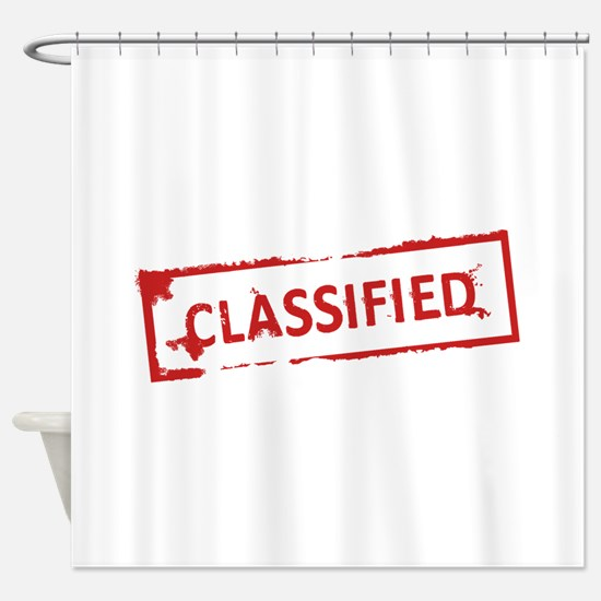 Classified Stamp Shower Curtain