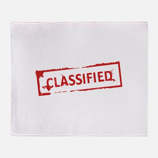 Classified Stamp Throw Blanket