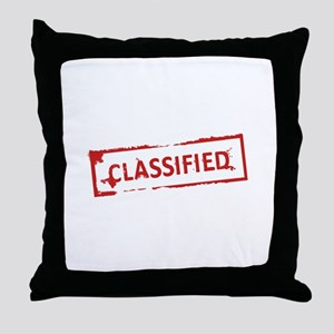 Classified Stamp Throw Pillow