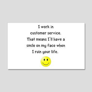 Customer Service Joke Wall Decal