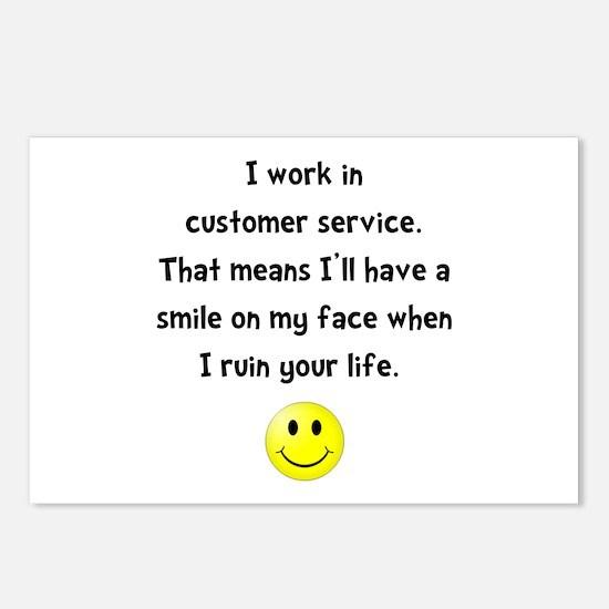 Customer Service Joke Postcards (Package of 8)