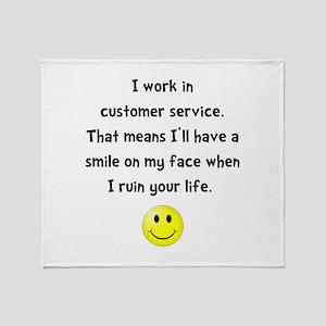 Customer Service Joke Throw Blanket