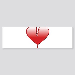 Broken Heart Sticker (Bumper)