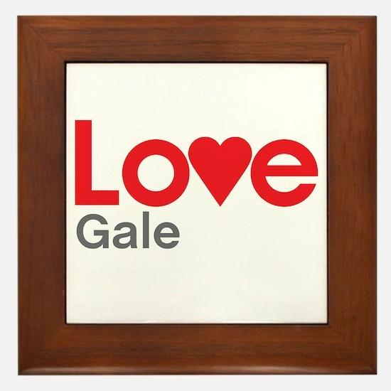 I Love Gale Framed Tile