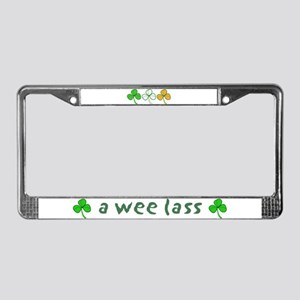 a wee lass License Plate Frame