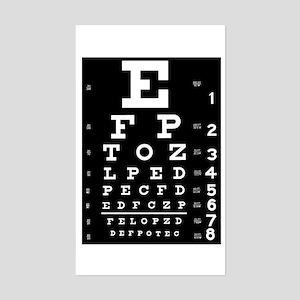 Eye chart gift Sticker (Rectangle)
