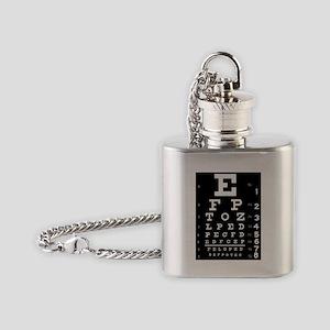 Eye chart gift Flask Necklace