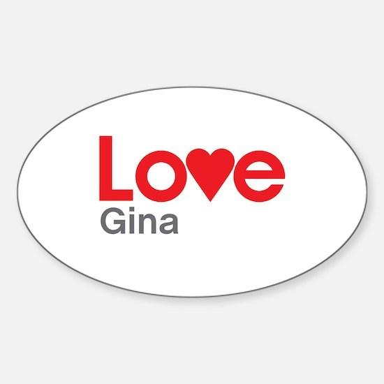 I Love Gina Decal