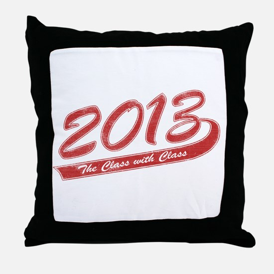 The Class with Class Throw Pillow