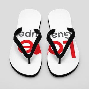 I Love Guadalupe Flip Flops