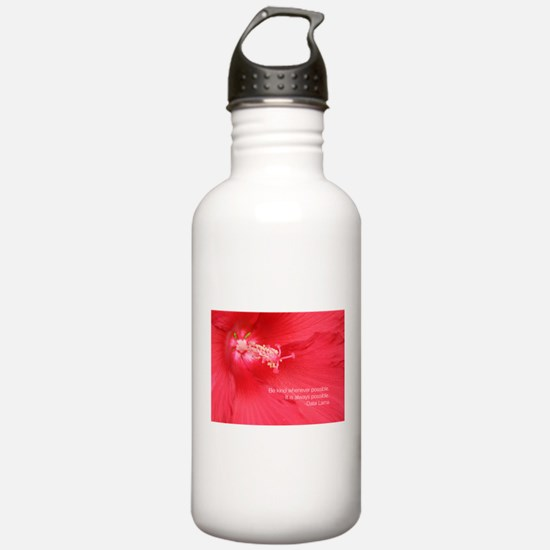 Dalai Lama Quote: Be kind. Water Bottle