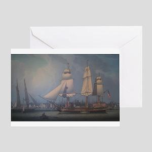 Wharves of Boston Greeting Card