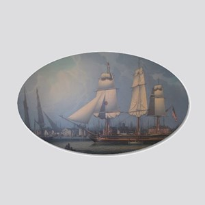 Wharves of Boston Wall Decal
