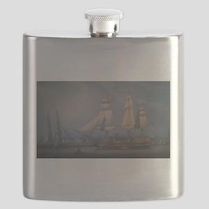 Wharves of Boston Flask
