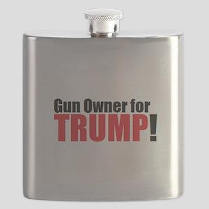 Gun Owner for TRUMP! Flask