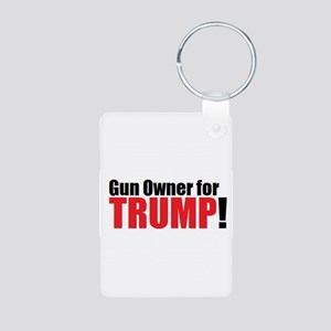 Gun Owner for TRUMP! Aluminum Photo Keychain