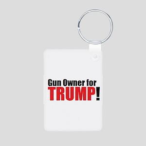 Gun Owner for TRUMP! Aluminum Photo Keychain
