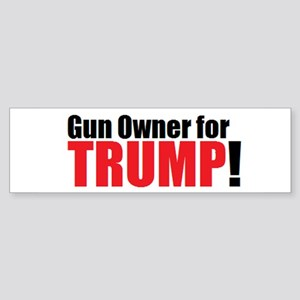 Gun Owner for TRUMP! Sticker (Bumper)