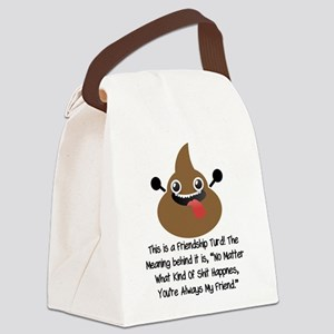 Friendship Turd Canvas Lunch Bag
