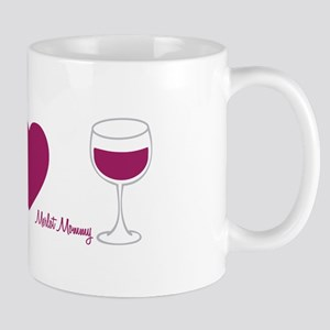 Peace.Love.Wine (icons) Mug