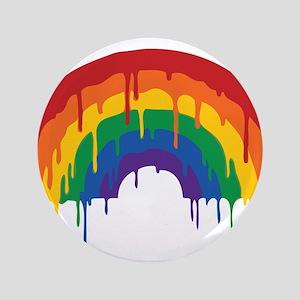 """Rainbow 3.5"""" Button"""