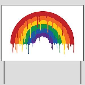 Rainbow Yard Sign