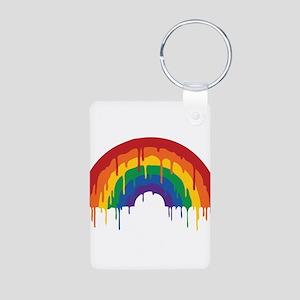 Rainbow Aluminum Photo Keychain