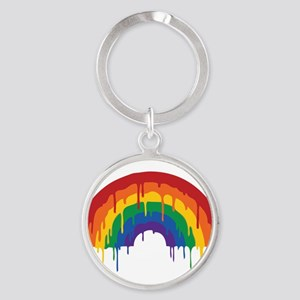 Rainbow Round Keychain