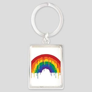 Rainbow Portrait Keychain