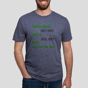 Hipaa Joke green Mens Tri-blend T-Shirt
