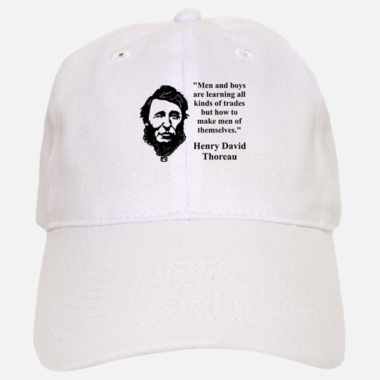 Men And Boys Are Learning - Thoreau Baseball Baseball Baseball Cap