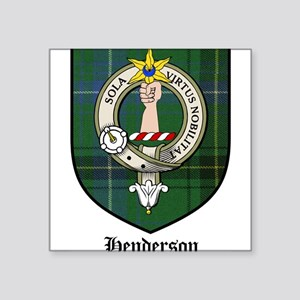 Henderson Clan Crest Tartan Rectangle Sticker