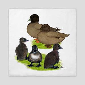 Call Duck Khaki Family Queen Duvet