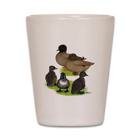 Call Duck Khaki Family Shot Glass