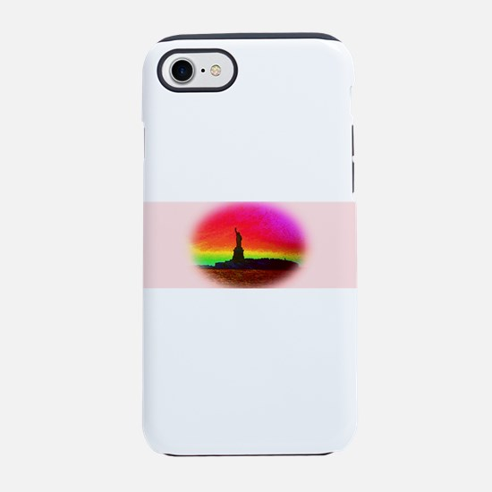 Statue of Liberty NYC Rainbow iPhone 7 Tough Case