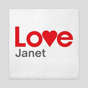 I Love Janet Queen Duvet