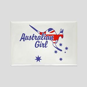 Australian Girl Rectangle Magnet