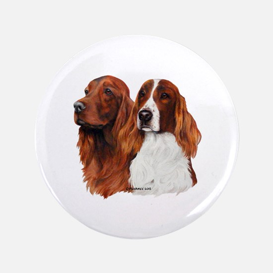 "Irish Setters 3.5"" Button"