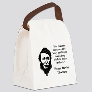 Not That The Story Need Be Long - Thoreau Canvas L