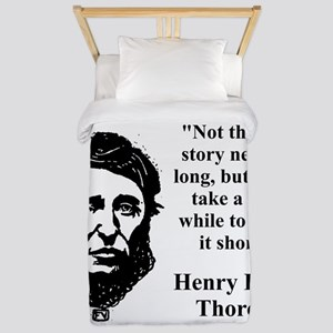 Not That The Story Need Be Long - Thoreau Twin Duv