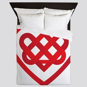Celtic Knot Valentine Irish Queen Duvet
