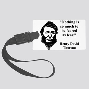 Nothing Is So Much - Thoreau Luggage Tag