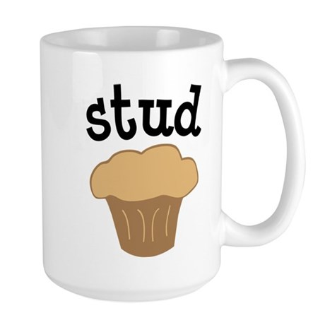 Stud Muffin Funny Valentines Day Gift Large Mug