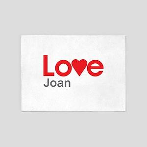 I Love Joan 5'x7'Area Rug