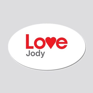 I Love Jody Wall Decal