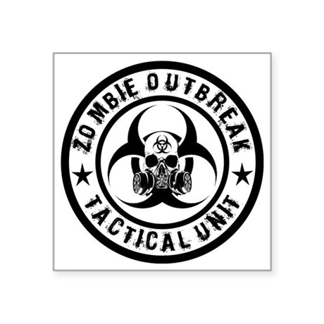 Zombie Outbreak Tactical unit Sticker