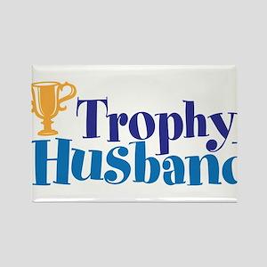Trophy Husband Funny Valentine Rectangle Magnet