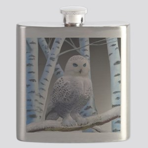 BLUE-EYED SNOW OWL Flask