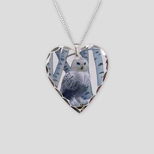 BLUE-EYED SNOW OWL Necklace